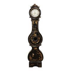 19th Century Swedish Fryksdahl Clock with Chinoiserie Decor
