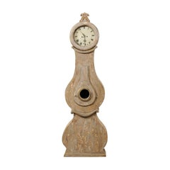 19th Century Swedish Fryksdahl Floor Clock with Curvaceous Body