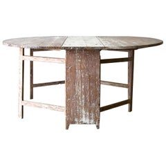 19th Century Swedish Gate Leg Table