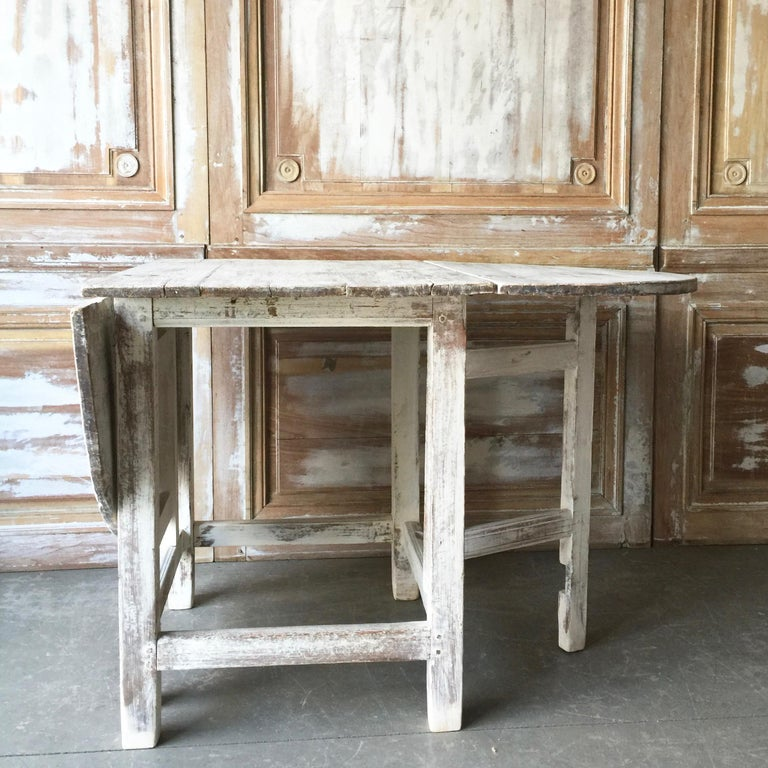 Hand-Crafted 19th Century Swedish Gateleg Table For Sale