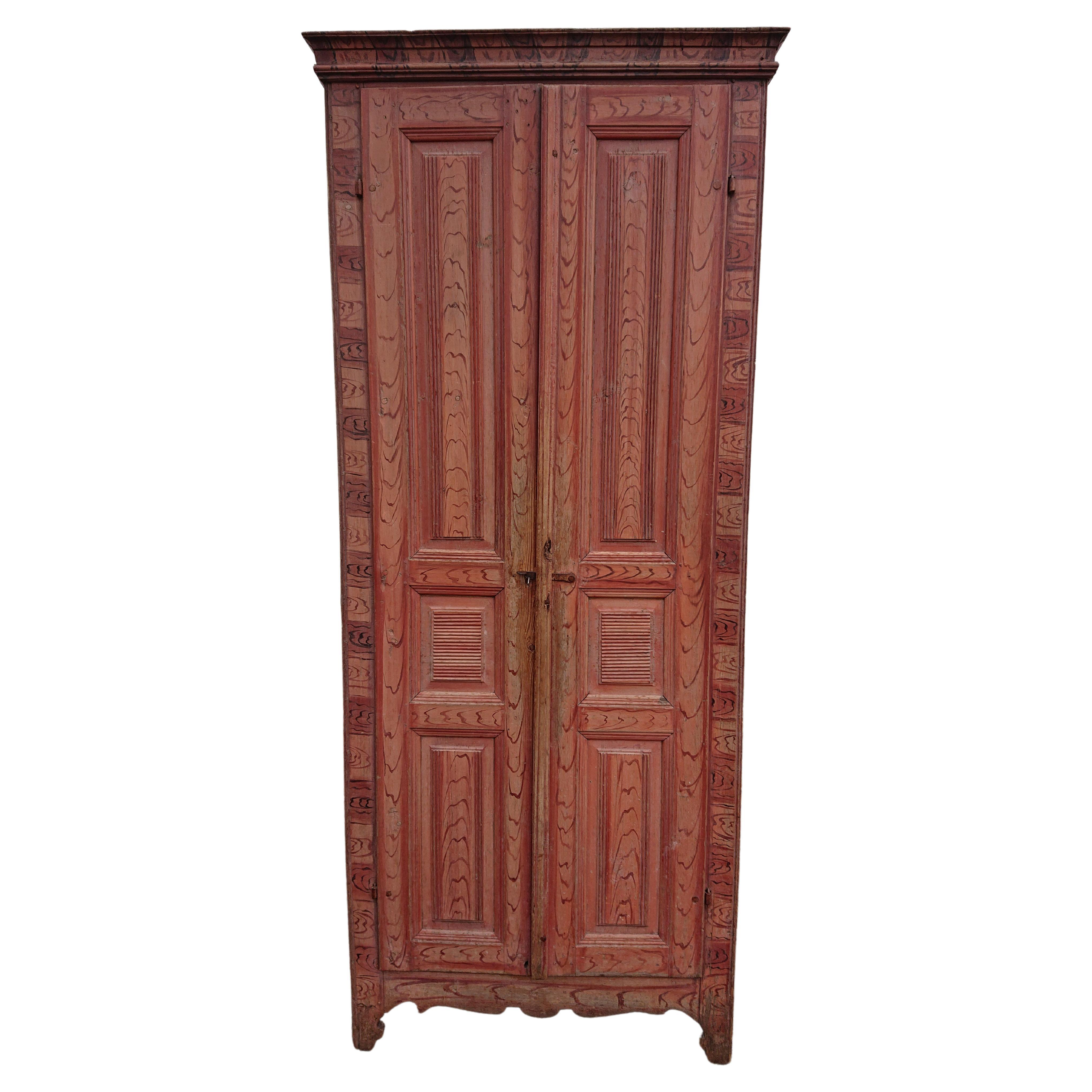 19th Century Swedish Gustavian Cabinet with Originalpaint