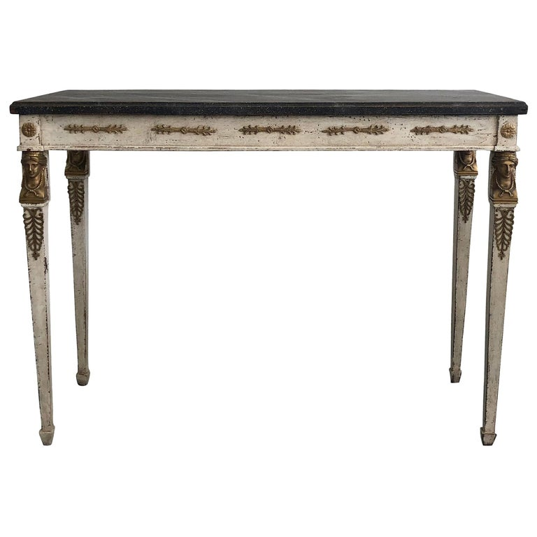 e062526f1f256 19th Century Swedish Gustavian Console Table For Sale. A Swedish Gustavian  hand painted ...