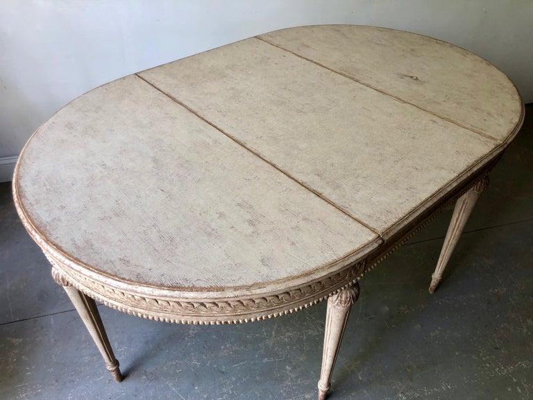 19. Jahrhundert Schwedischer Gustavianischer Ausziebarer Tisch 2