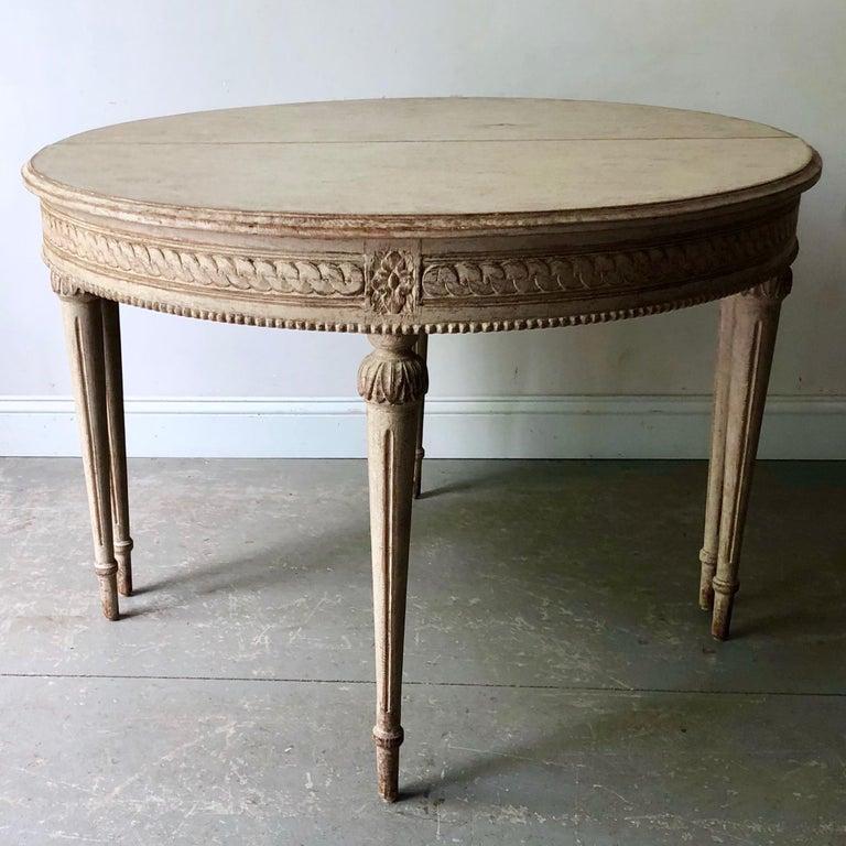 19. Jahrhundert Schwedischer Gustavianischer Ausziebarer Tisch 3