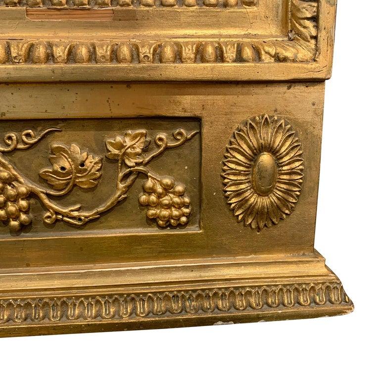 19th Century Swedish Gustavian Gilded Wood Wall Mirror For Sale 1