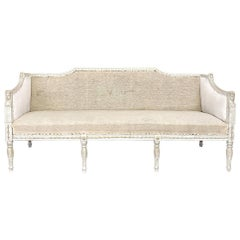 19th Century Swedish Gustavian Painted Neoclassical Sofa