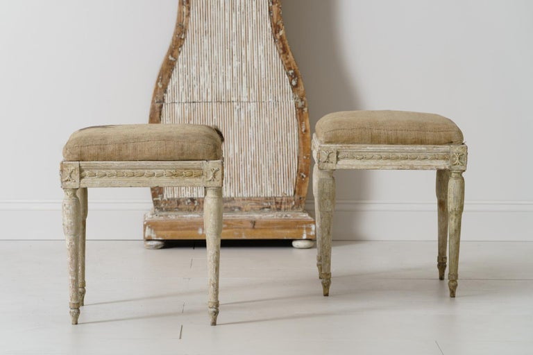 19th Century Swedish Gustavian Period Provincial Stools In Good Condition For Sale In Wichita, KS