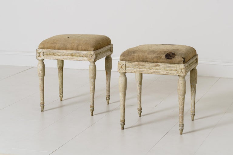 19th Century Swedish Gustavian Period Provincial Stools For Sale 1