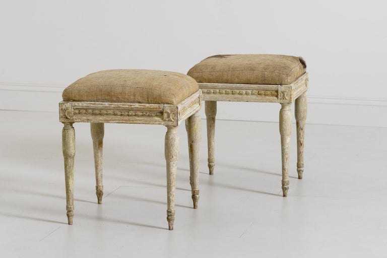 19th Century Swedish Gustavian Period Provincial Stools For Sale 2