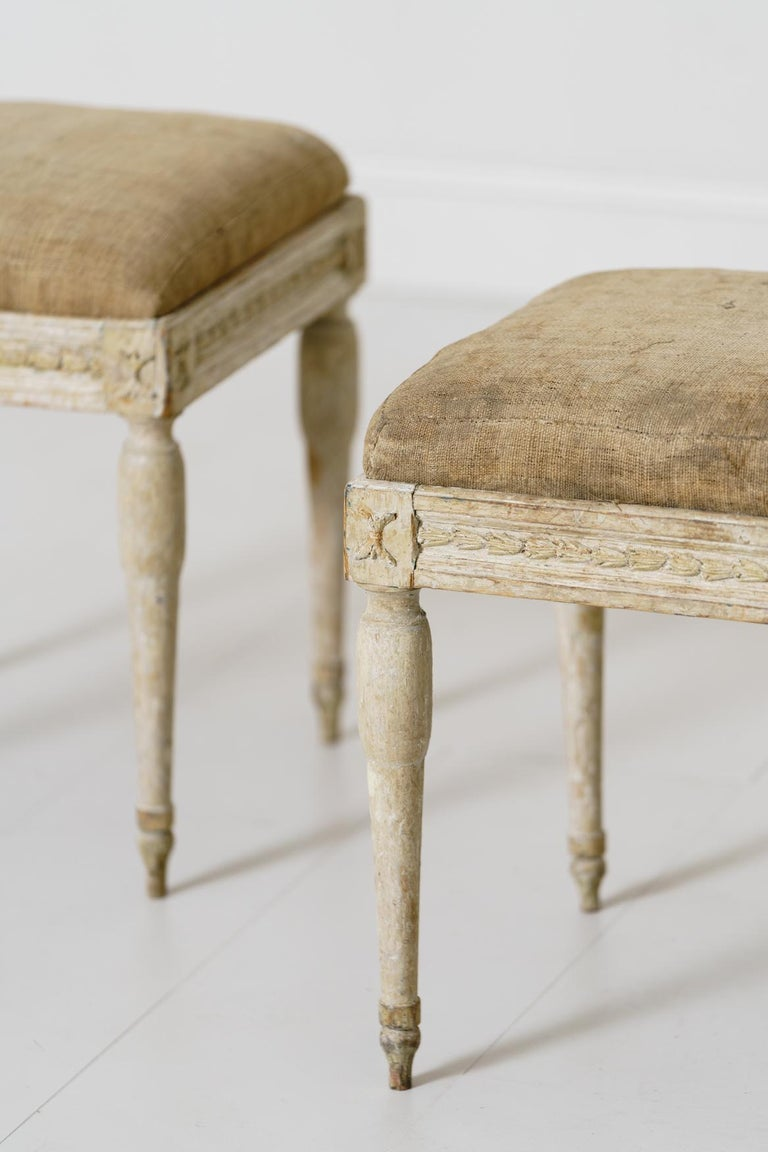 19th Century Swedish Gustavian Period Provincial Stools For Sale 3