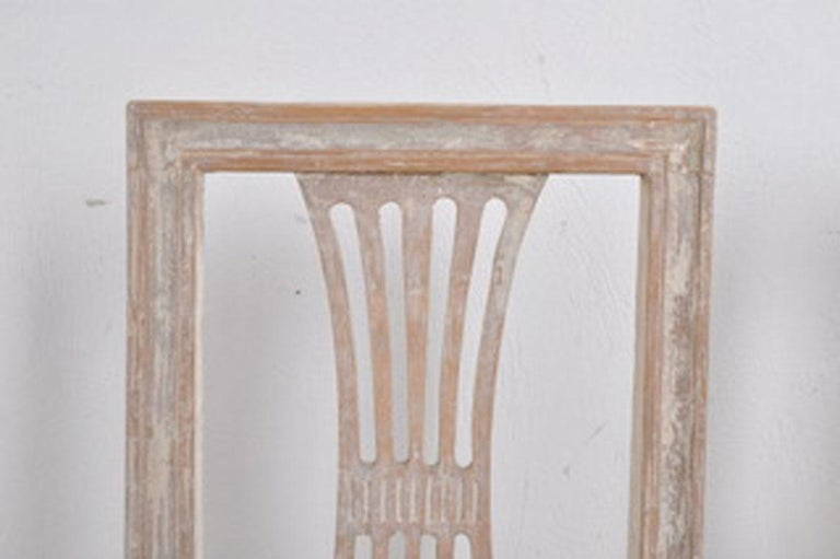 Hand-Crafted 19th Century Swedish Gustavian Period Set of Four Chairs in Original Paint For Sale
