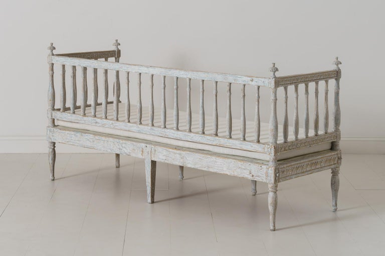 19th Century Swedish Gustavian Period Sofa Bench For Sale 6