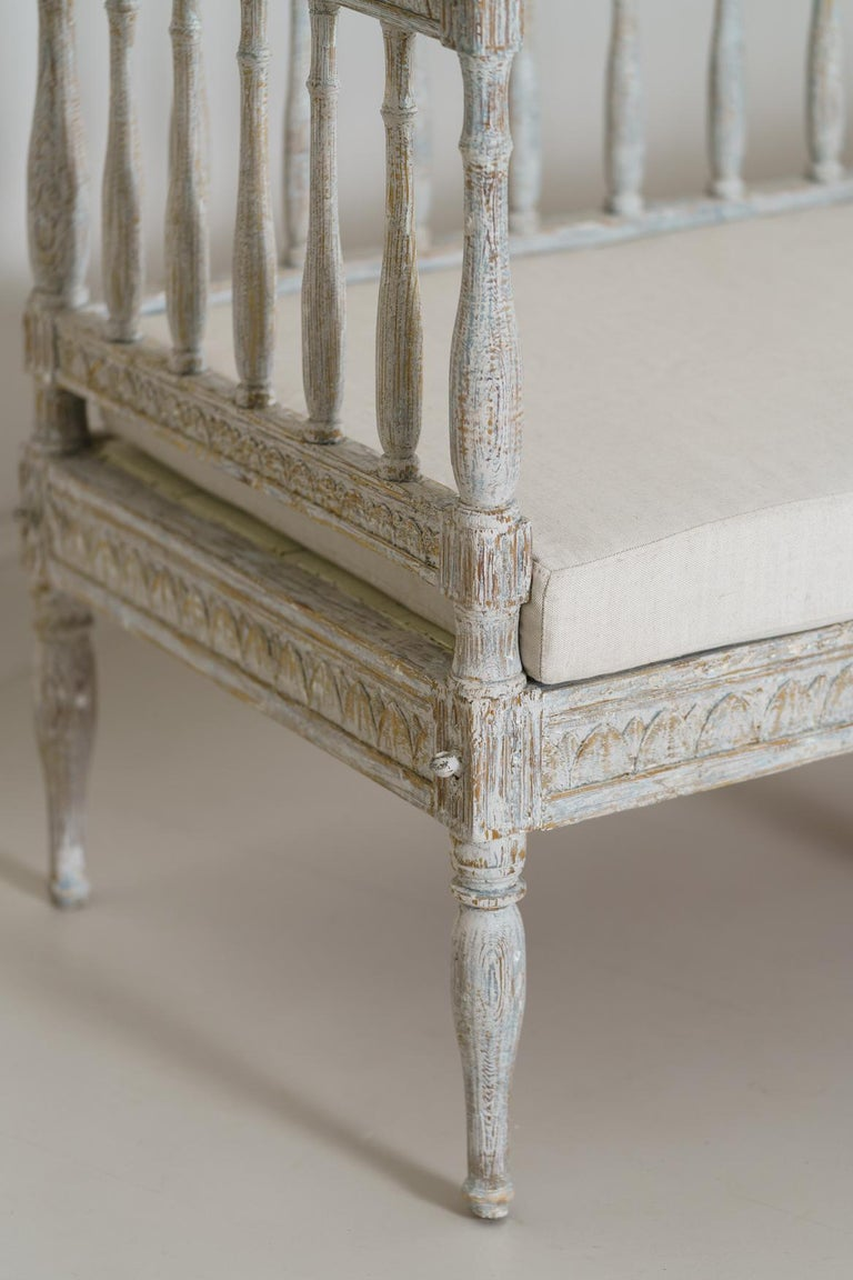 19th Century Swedish Gustavian Period Sofa Bench For Sale 1
