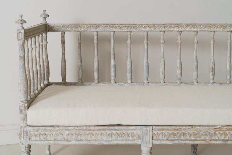 19th Century Swedish Gustavian Period Sofa Bench For Sale 2