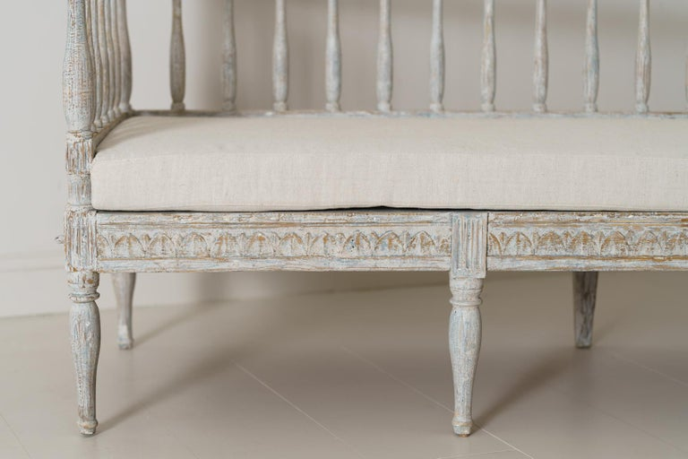 19th Century Swedish Gustavian Period Sofa Bench For Sale 3