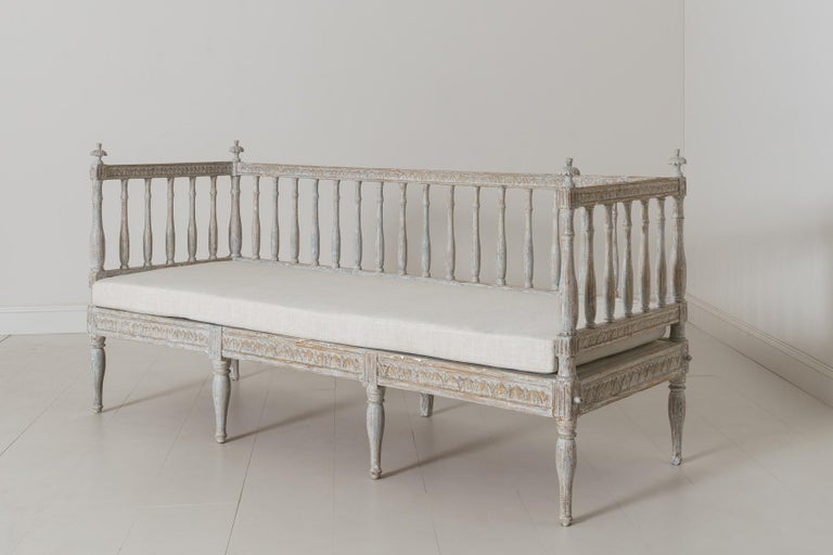 19th Century Swedish Gustavian Period Sofa Bench For Sale 4