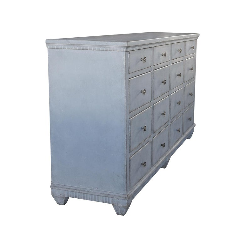 19th Century Swedish Gustavian Pharmacy Cabinet In Good Condition For Sale In West Palm Beach, FL