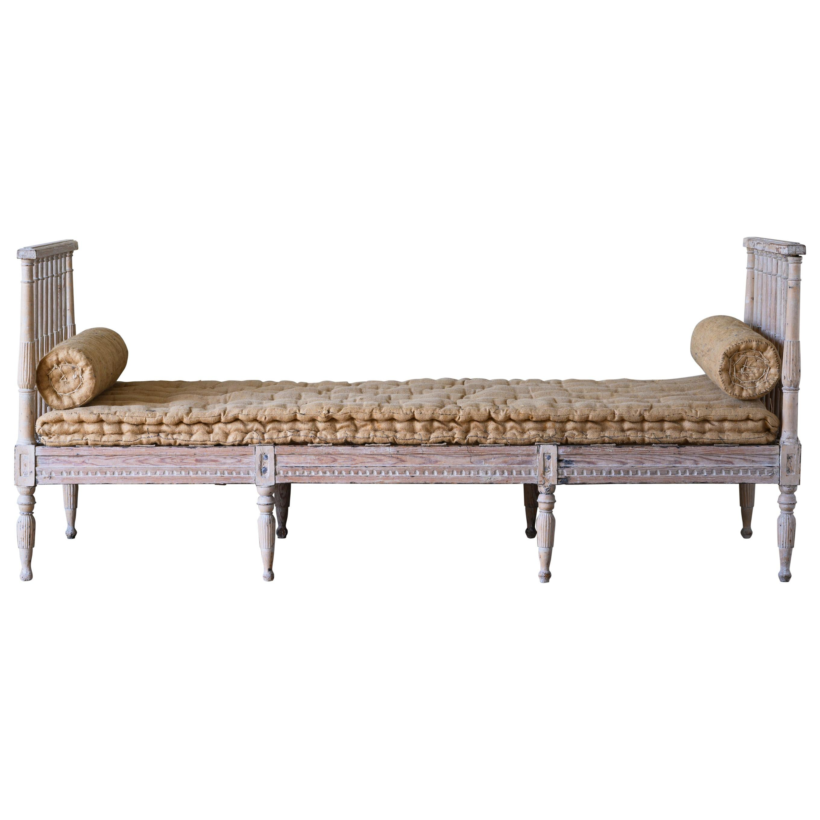 19th Century Swedish Gustavian Sofa / Bench