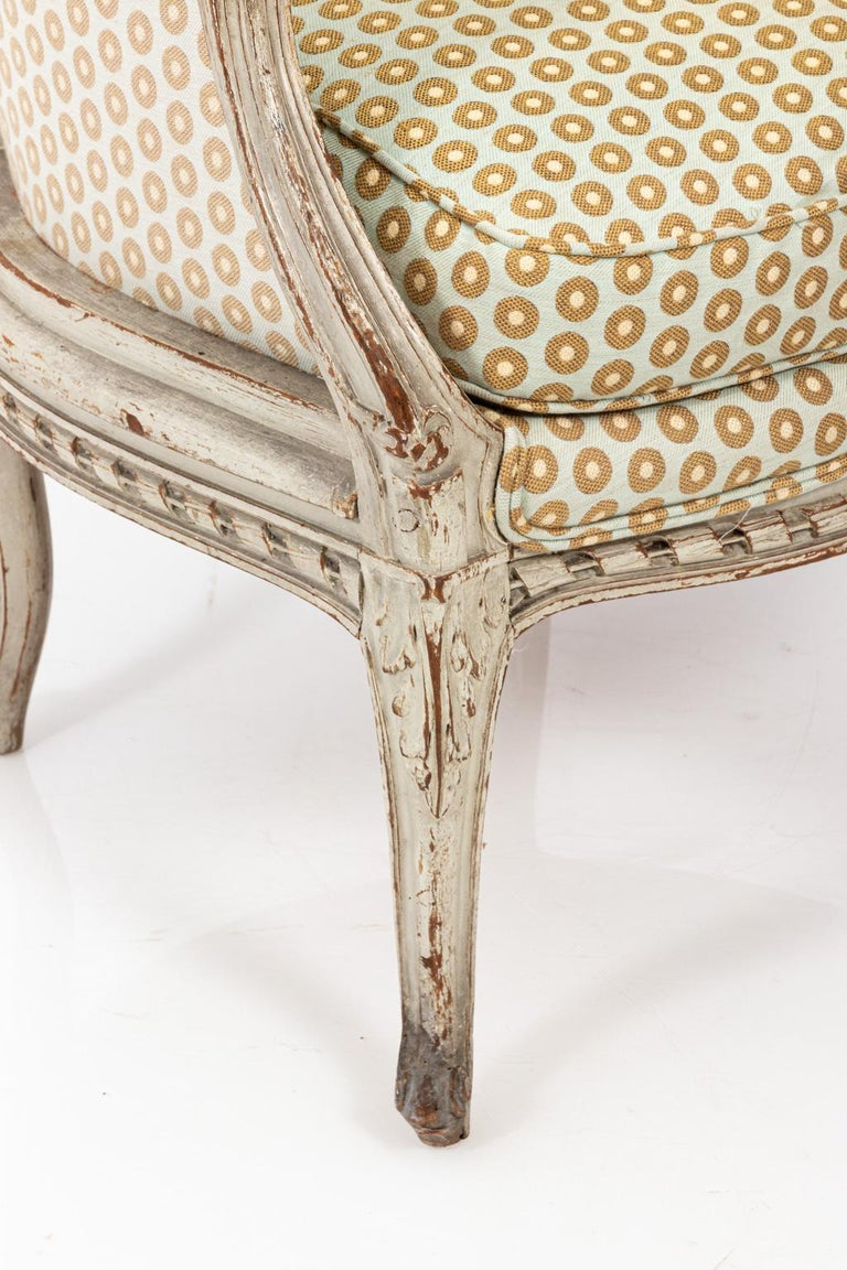 19th Century Swedish Gustavian Style Bergère Armchair For Sale 6