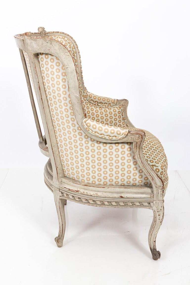 19th Century Swedish Gustavian Style Bergère Armchair For Sale 7