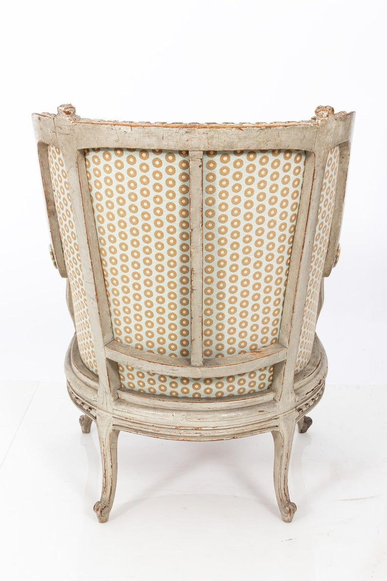 19th Century Swedish Gustavian Style Bergère Armchair For Sale 8