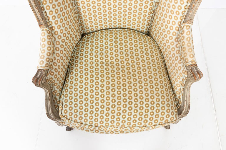 19th Century Swedish Gustavian Style Bergère Armchair For Sale 4