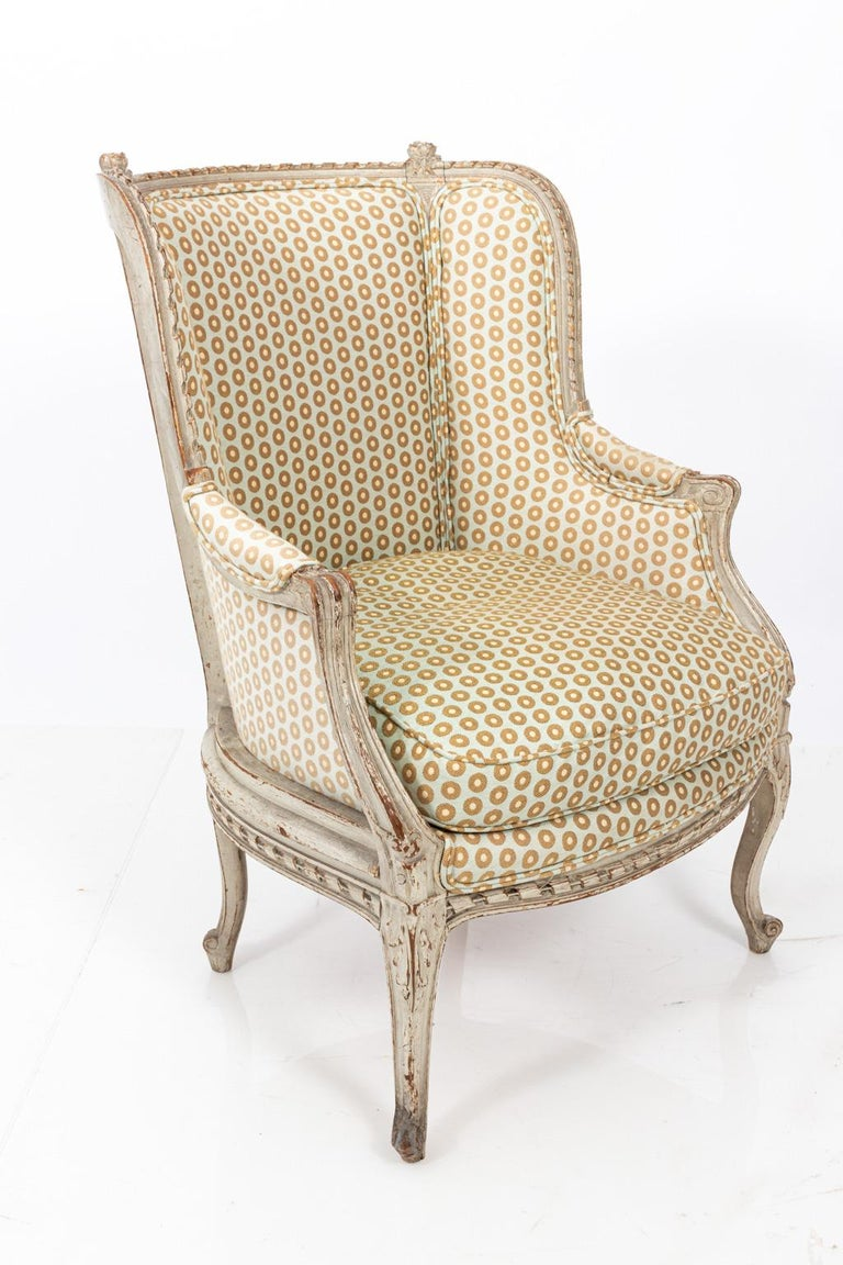 19th Century Swedish Gustavian Style Bergère Armchair For Sale 5