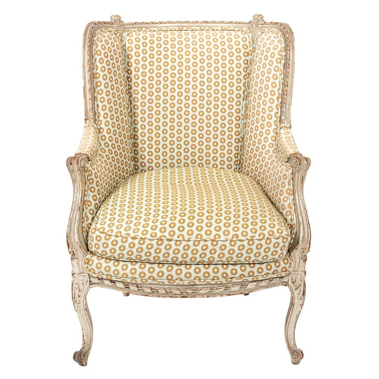 19th Century Swedish Gustavian Style Bergère Armchair For Sale