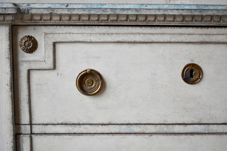 19th Century Swedish Gustavian Style Chest of Drawer In Good Condition For Sale In Helsingborg, SE