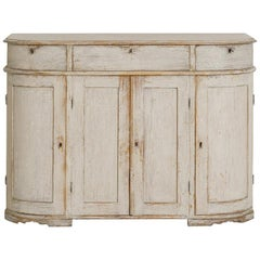 19th Century Swedish Gustavian Style Painted Buffet Cabinet