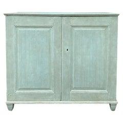 19th Century Swedish Gustavian Style Painted Cabinet, Custom Finish
