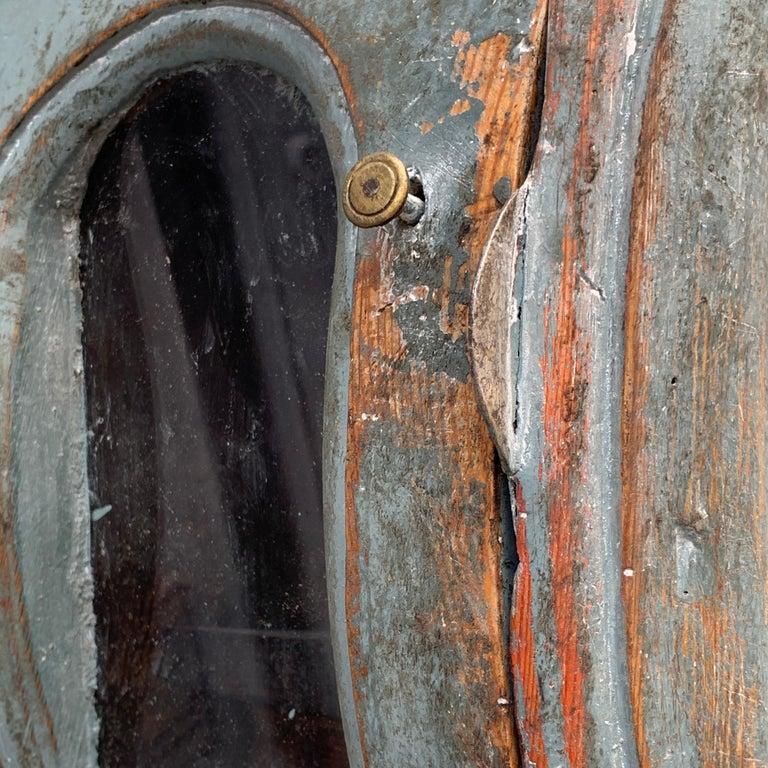 Pine 19th Century Swedish Gustavian Style Painted Longcase Mora Clock For Sale