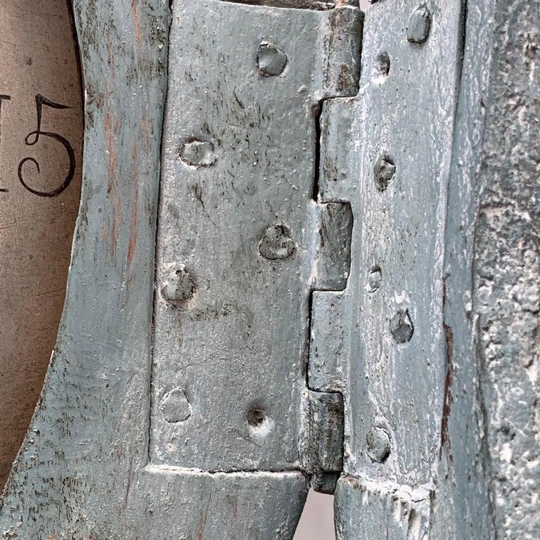 19th Century Swedish Gustavian Style Painted Longcase Mora Clock For Sale 1