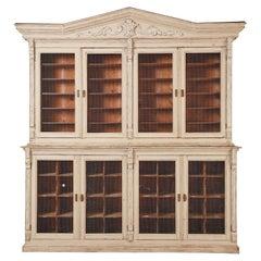 19th Century Swedish Gustavian Style Pine Library Bibliotheque Bookcase