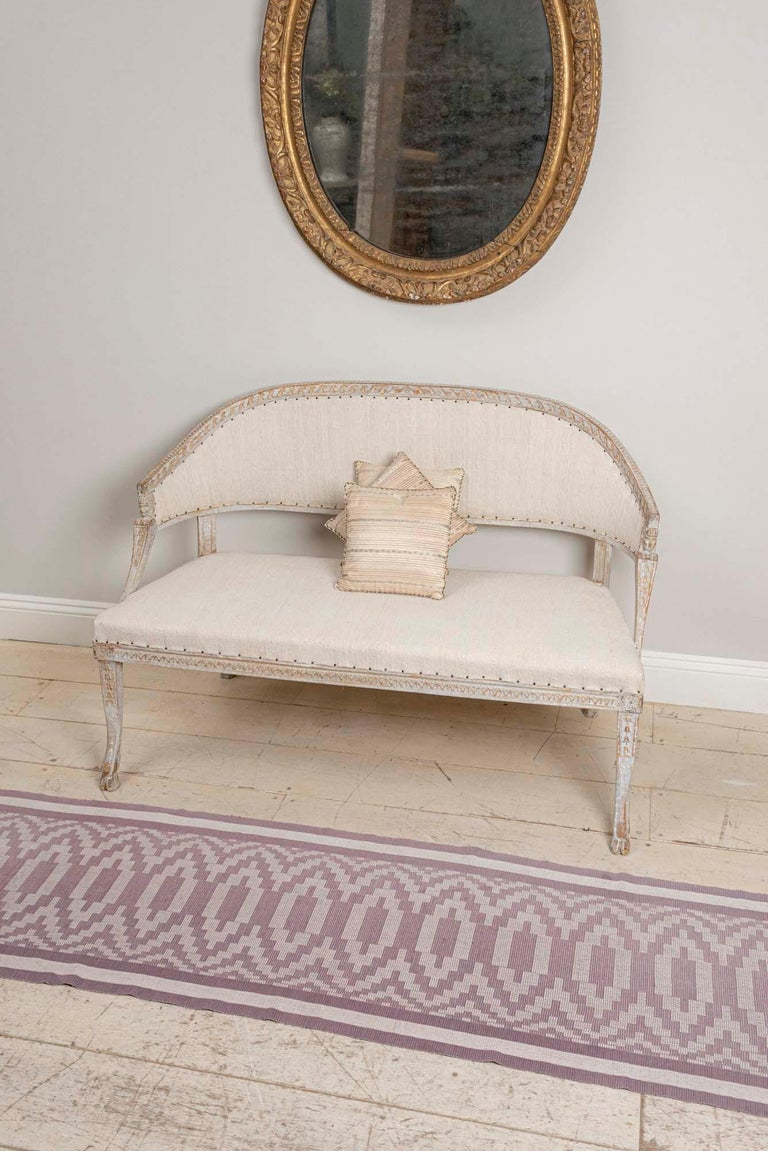 19th Century Swedish Gustavian Two-Seat Swedish Sofa with Decorative Detail For Sale 7