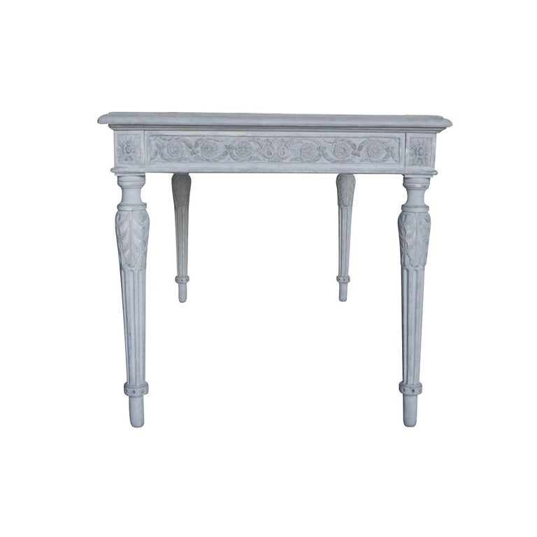 Hand-Painted 19th Century Swedish Gustavian Writing Desk For Sale