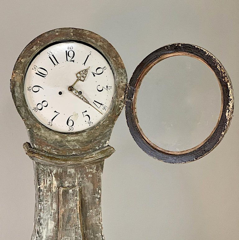 19th Century Swedish Long Case Clock For Sale 4