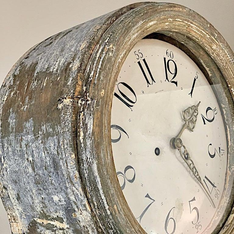 19th Century Swedish Long Case Clock For Sale 6