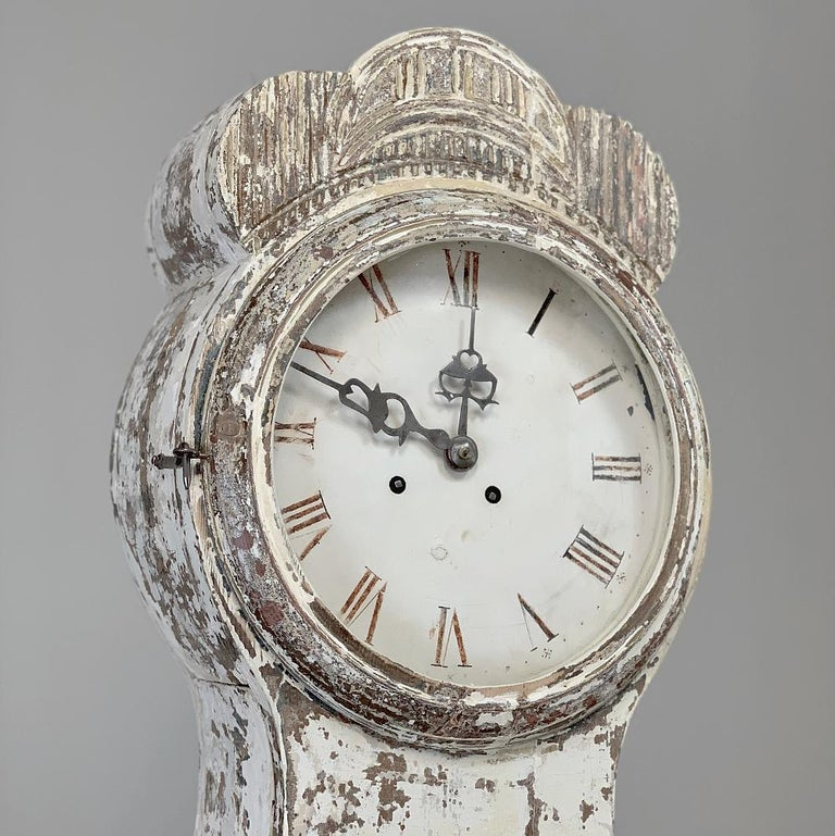 Gustavian 19th Century Swedish Long Case Clock For Sale
