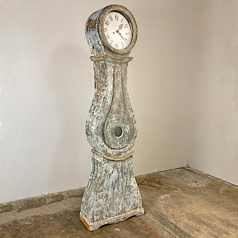 19th Century Swedish Long Case Clock For Sale 1