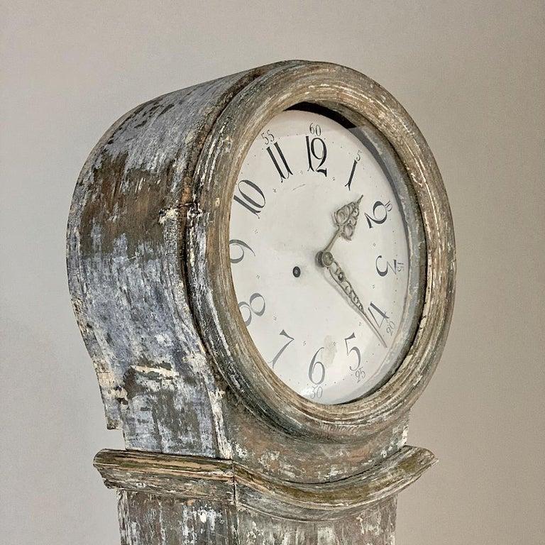 19th Century Swedish Long Case Clock For Sale 2