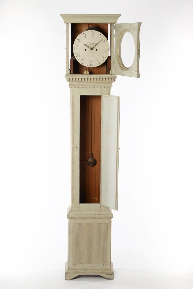 19th Century Swedish Longcase Clock 2