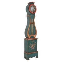 19th Century Swedish Longcase Clock, Painted
