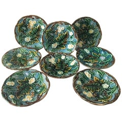 19th Century, Swedish Majolica Dessert Plate Rörstrand