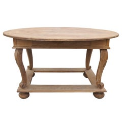 19th Century Swedish Oval Center Table with Drawer