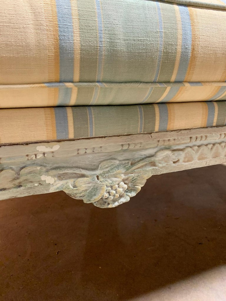 19th Century Swedish Painted Bench / Daybed / Sofa For Sale 7