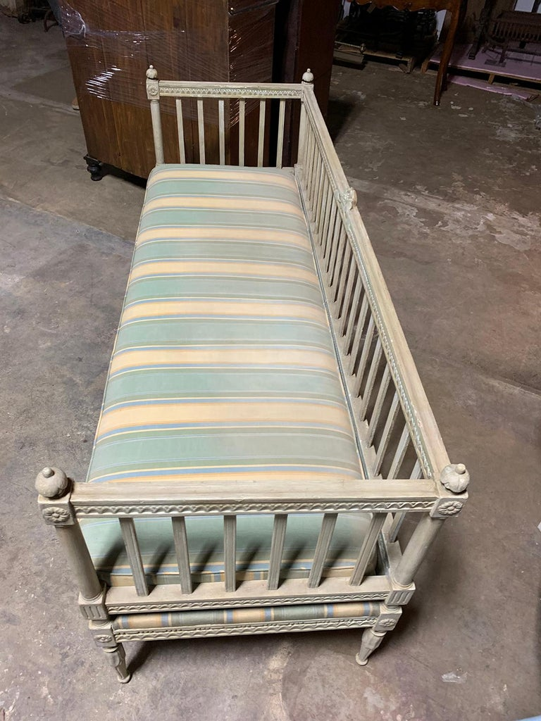 Wood 19th Century Swedish Painted Bench / Daybed / Sofa