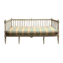 19th Century Swedish Painted Bench / Daybed / Sofa