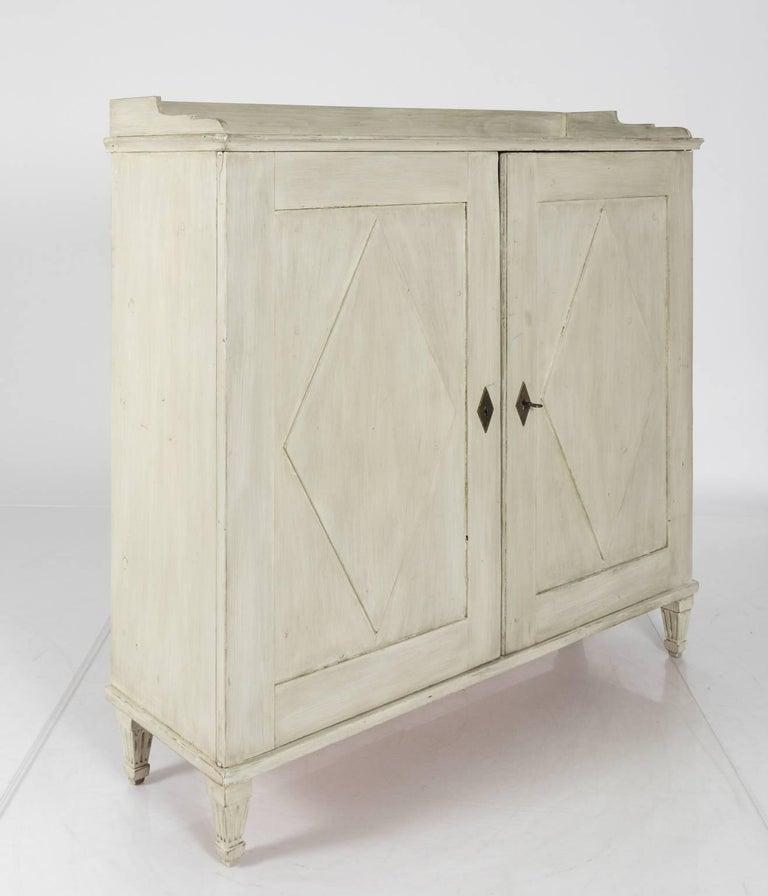 Gustavian 19th Century Swedish Painted Buffet Table For Sale