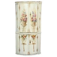 19th Century Swedish Painted Corner Cabinet